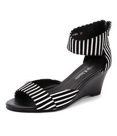 Django & Juliette Risha in Black/White Stripe | styletread.com.au