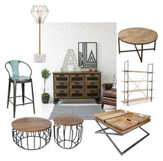 """""""Industrial green"""" by chesyj on Polyvore featuring interior, interiors, interior design, home, home decor, interior decorating and JAlexander"""