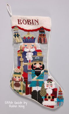 Needlepoint Study Hall: Jolly Nutcrackers by dede Ogden and Robin King