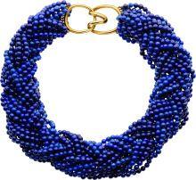 Estate Jewelry:Necklaces, Lapis Lazuli, Gold Necklace, Angela Cummings, Tiffany & Co.....