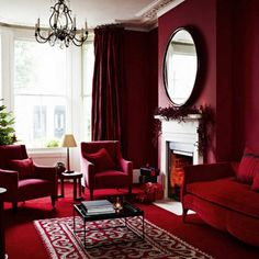 29 ideas living room design red apartment therapy room rnrnSource by alessandrayemoga Living Room Red, Christmas Living Rooms, Christmas Decor, Living Spaces, Red Room Decor, Wall Decor, Red Interior Design, Luxury Interior, Luxury Furniture
