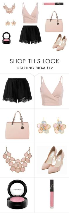 Gabi Demar by bocaari ❤ liked on Polyvore featuring Twin-Set, MICHAEL Michael Kors, Mixit, Nly Shoes, MAC Cosmetics, NARS Cosmetics, ArianaGrande, polyvoreeditorial and nikiandgabi