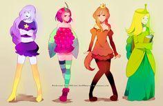 adventure time anime | adventure time princesses by *chu00master on deviantART