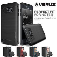 Original VERUS VRS For Samsung Galaxy Note 5 Case Drop Protect Hard Frame Brushed Metal Back Hybrid Rugged Cover Cases for N9200