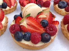 Ovocné tartaletky Fruit Salad, Baked Goods, Cheesecake, Cupcakes, Lunch, Baking, Blog, Recipes, Pizza