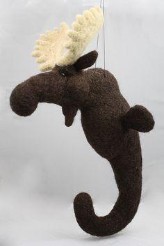 Needle felted Sea Moose???!
