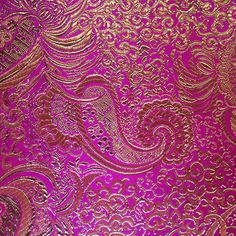 """Metallic Paisley Brocade is 60"""" inches wide and 100% polyester. This fabric is available in 9 colors and sold by the yard. This wonderful brocade is perfect for your home decorations, apparel, table c"""