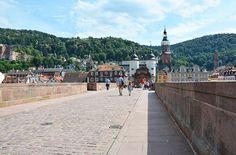 Heidelberg  - en hyggelig by med gammel slotsruin i Tyskland