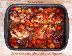 Galeria Smaku: Udka kurczaka pieczone z warzywami