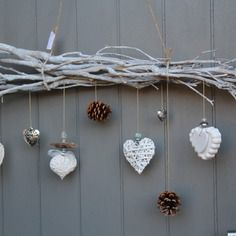 Whitewashed wood furniture a, Christmas Lanterns, Christmas Crafts, Christmas Decorations, Driftwood Projects, Driftwood Art, Stix And Stones, Twig Art, Stick Art, Garden Deco
