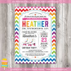 Free Roller Skating Party Invitation Template Party
