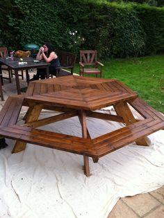 DIY Hexagonal picnic bench