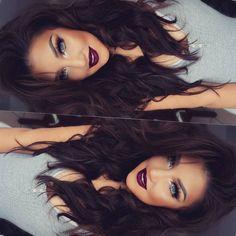 "♥AURORA ♥ on Instagram: ""✌ Hola hunny bunnies  Hair Extensions #2 Dark chocolate 300grs 20"" from @myfantasyhair #auroramakeup #selfie"""