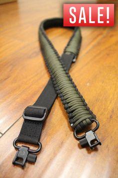 Adjustable Paracord Rifle/Shotgun Sling + Swivels - 550lb Cord - Gun Strap #FoxLiteTactical