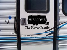 Large Camp Travel Trailer Camper Camping Decal Sticker U CUSTOMIZE Name & Color!