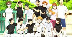 Big Windup! Mihashi Ren  quirky ace pitcher of Nishiura high school's newly formed baseball team. However, has hit rock-bottom in terms of confidence and self-belief, thanks to a traumatic 3yrs in his middle school - Mihoshi academy - & switched to Nishiura just to get away from it all. (DuB- http://www.animeonair.com/category/big-windup SuB- http://www.thatanime.net/series/ookiku-furikabutte-big-windup/
