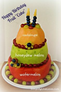 "Happy Birthday Fruit ""Cake"""