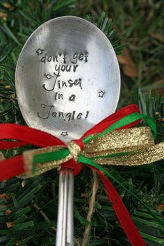Christmas Spoon by taggyourit on Etsy, $16.00