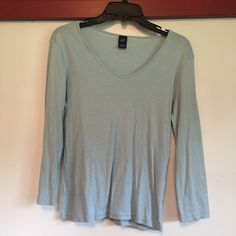 Gap lightweight shirt Lightweight Gap shirt. Blue with silver thread woven in. Good used condition. Feel free to make offers and bundles GAP Tops Tees - Long Sleeve