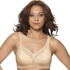 Playtex Bra: 18 Hour Comfort Lace Full-Figure Bra - Women's, Lt Beige