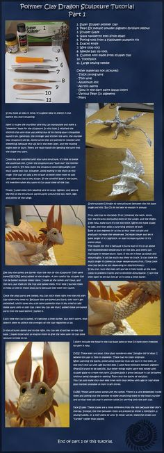 Dragon Sculpture Tutorial: Part 1 by ~OoZepheroO on deviantART