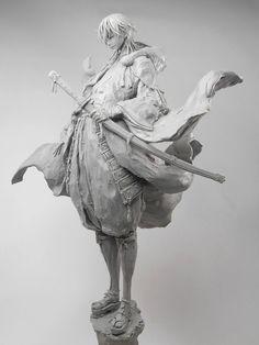 青人(@mobile_blueman)さん | Twitter Zbrush Character, 3d Model Character, Character Modeling, Character Art, 3d Fantasy, Anime Figurines, 3d Models, Sculpture Clay, Character Design Inspiration