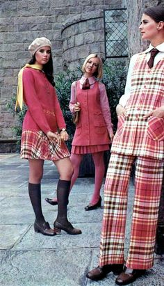 1960s Pink Plaid.  I loved Bobbie Brooks clothes!
