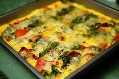 Lunch Restaurants, Egg Omelet, Vegetarian Recipes, Healthy Recipes, Frittata, Egg Dish, Pizza, Food Dishes, Brunch