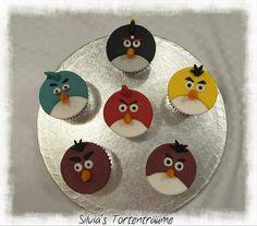 Silvia's Tortenträume: Angry Birds Muffins Muffin-Aufleger Aufleger Fondant lecker Angry-Birds