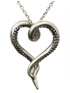 Sea Lover by Controse (Silver) #InkedShop #octopus #heart #necklace #jewelry