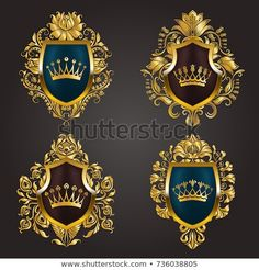 Find Set Golden Royal Shields Filigree Floral stock images in HD and millions of other royalty-free stock photos, illustrations and vectors in the Shutterstock collection. Thousands of new, high-quality pictures added every day. Old Frames, Gold Lace, Logo Concept, Monogram Logo, Wattpad, Tattoo Designs Men, Logos, High Quality Images, Logo Design