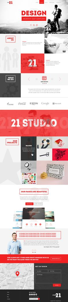 Studio-Creative One Page Template Published by Maan Ali