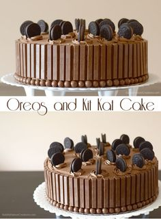 Oreos and Kit Kat Cake