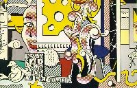 Go for Baroque (1979) by: Roy Lichtenstein Oil and magna on canvas
