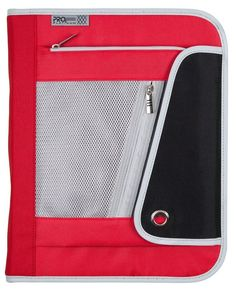 "Mead Pro Platinum Zipper Binder with Interior Expanding File 1.5"" Red #Mead"