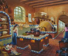 Enzo Montano: da Dona Flor e e i suoi due mariti – Jorge Amado Canvas Art Prints, Oil On Canvas, Mexican Style Kitchens, Mexican Paintings, Rustic Bedroom Design, Kitchen Art, Kitchen Colors, Rustic Kitchen, Kitchen Ideas