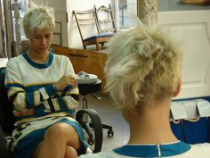 Maybe a little too crazy but I LOVE this  - short blond hair cut by jezz