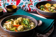 Made from chickpea flour and chicken, gundi are the Persian-Jewish (and gluten-free) version of matzo balls, with a lighter, pillowy texture, served here in a hearty soup.