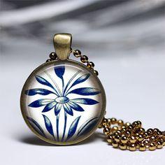 Pendelketten - Ozeanblauer Schönheits schmuck anhänger - ein Designerstück von MadamebutterflyMeagan bei DaWanda