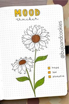 If you want to change your theme for the month, you neee to check out these colorful sunflower bullet journal spreads for inspiration! Bullet Journal August, Bullet Journal Tracker, Bullet Journal Spreads, Bullet Journal Writing, Bullet Journal Aesthetic, Bullet Journal School, Journal Pages, Journal Ideas, Journals