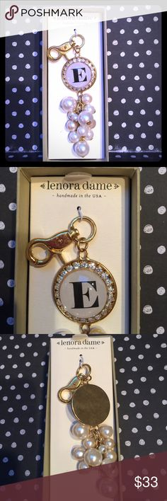 """""""E"""" Charm/ KeyFob 🔹Lenora dame 🔹Gold Tone , Faux Pearls and Diamonds lenora dame Accessories"""
