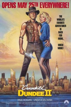 Crocodile Dundee II (1988) Australian outback expert protects his New York love from gangsters who've followed her down under. Director: John Cornell  Writers: Paul Hogan (characters), Paul Hogan, 1 more credit »  Stars: Paul Hogan, Linda Kozlowski,...