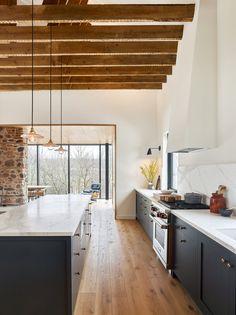 Modern Interior Design, Interior Architecture, Mechanical Room, Steel Columns, Decoration Inspiration, Home Hacks, House Goals, Home Kitchens, Kitchen Design