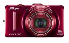 Nikon COOLPIX S9300 16 MP CMOS Digital Camera with 18x Zoom NIKKOR ED Glass Lens and Full HD 1080p Video (Red)