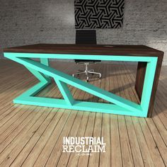 Asymmetric Waterfall Floating Desk - Modern Angles