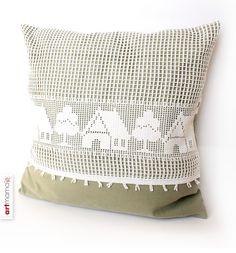 Kissenbezug «Häuser», Collection «SHABBY» von artmama auf DaWanda.com