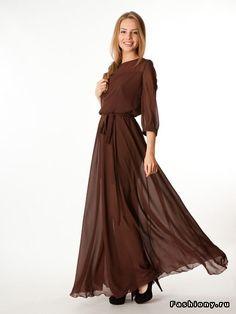 Платья в пол на каждый день / плисерованные платья в пол