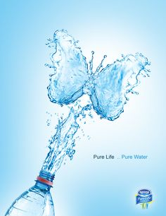 Pure Water on Behance Best Reverse Osmosis System, Water Shape, Shapes Images, Kangen Water, Water Delivery, Water Art, Mineral Water, Creative Posters, Messages