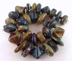 PT Handmade Lampwork Beads Orchid Magic Multi Medley  SRA  #SRAOOAKHandmadeLampwork #Lampwork