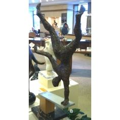Alfred Tibor sculpture Acrobat, Bonded Bronze. Available at Argo & Lehne Jewelers.